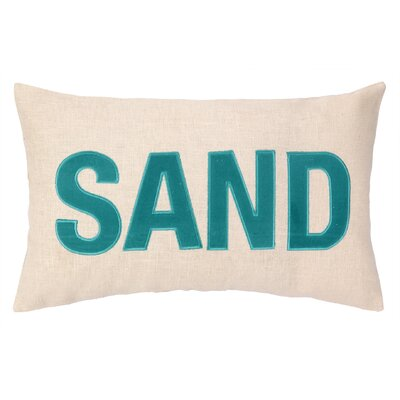 Nautical Applique Sand Lumbar Pillow