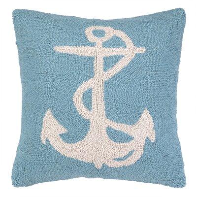 Nautical Hook Anchor Throw Pillow