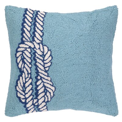 Nautical Hook Knot Throw Pillow