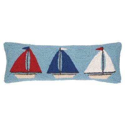 Nautical Hook Sailboat Trio Lumbar Pillow