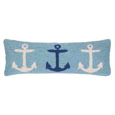Nautical Hook Anchor Trio Lumbar Pillow
