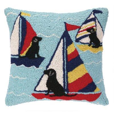 Nautical Hook Sailor Labs Throw Pillow