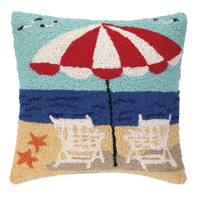 Nautical Hook Beach Getaway Throw Pillow