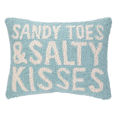 Nautical Hook Sandy Toes Salty Kisses Lumbar Pillow