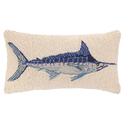 Nautical Hook Swordfish Wool Lumbar Pillow