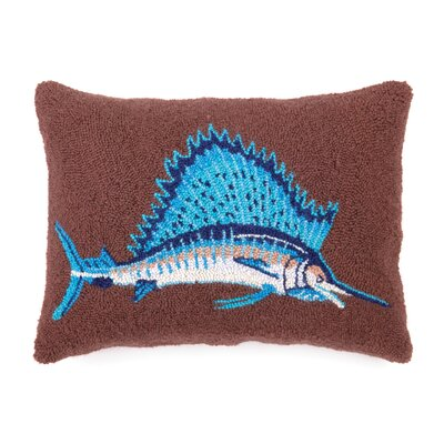 Nautical Hook Sail Fish Lumbar Pillow