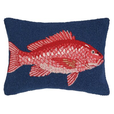 Nautical Hook Snapper Throw Pillow