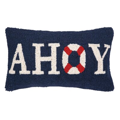 Nautical Hook Ahoy Throw Pillow