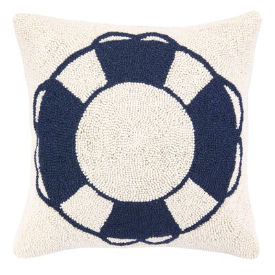 Nautical Hook Life Buoy Throw Pillow
