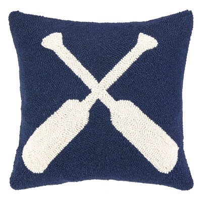 Nautical Hook Oars Throw Pillow