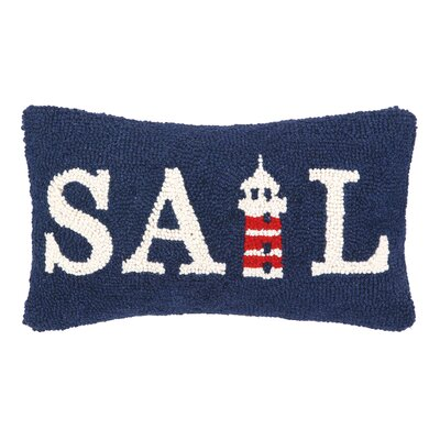 Nautical Hook Sail Lumbar Pillow