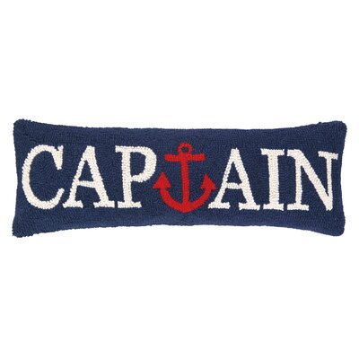 Nautical Hook Captain Anchor Wool Lumbar Pillow