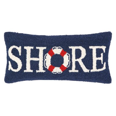 Nautical Hook Shore Life Buoy Lumbar Pillow