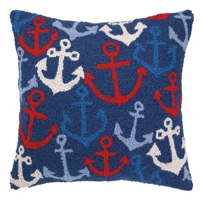 Nautical Hook Anchors Away Throw Pillow