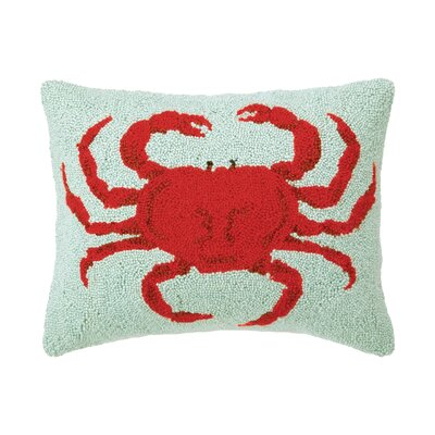 Crab�Wool Throw Pillow