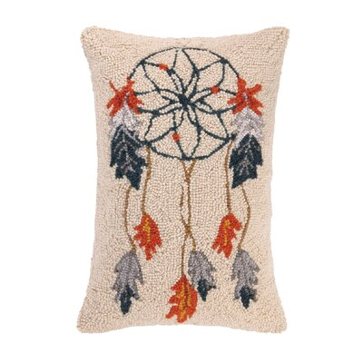 Dream Catcher Hook Wool Lumbar Pillow