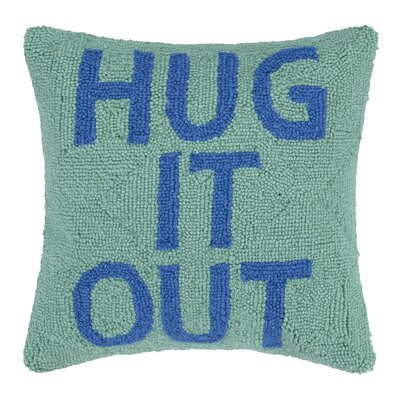 Hug It Out Hook Wool Throw Pillow