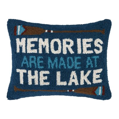 Memories at The Lake Hook Wool Throw Pillow