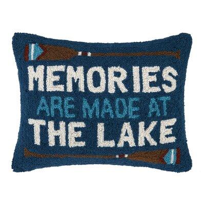 Memories at The Lake Hook Wool Throw Pillow