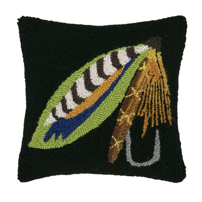 Fishing Lure in Hook Wool Throw Pillow