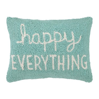 Happy Everything Hook Wool Lumbar Pillow