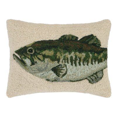 Bass Hook Wool Lumbar Pillow