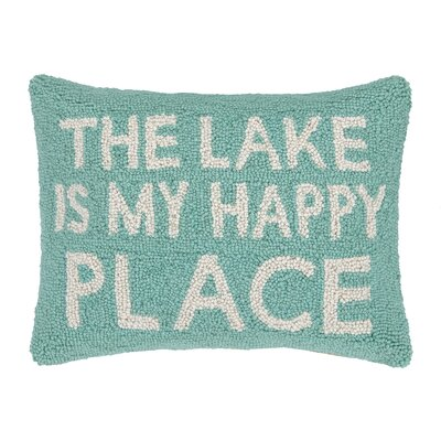 The Lake Is My Happy Place Wool Throw Pillow