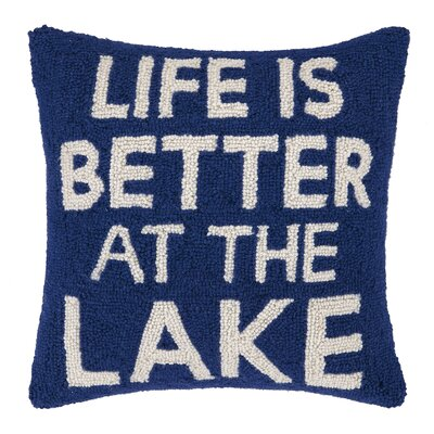 Life Is Better at The Lake Wool Throw Pillow