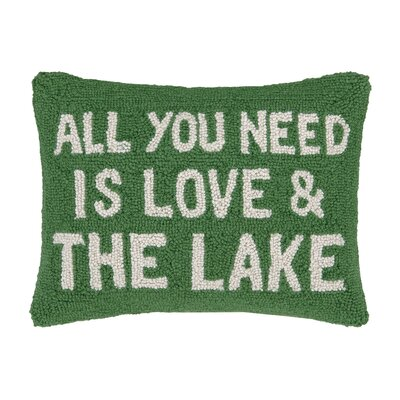 Need Love and The Lake Hook Wool Throw Pillow
