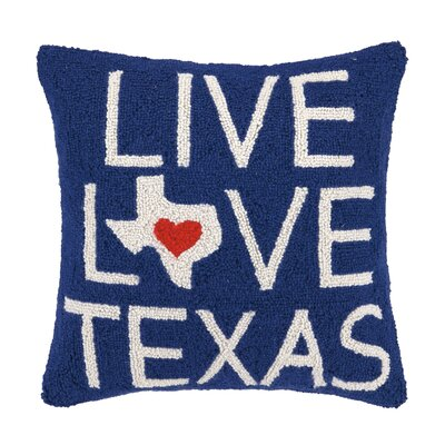 Live Love Texas Hook Wool Throw Pillow