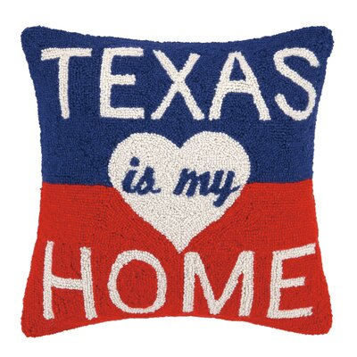 Texas Is My Home Wool Throw Pillow