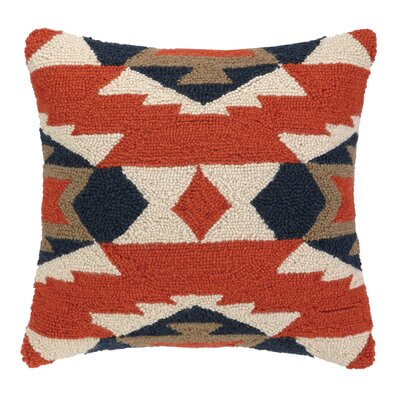 Kilim Pattern I Hook Wool Throw Pillow