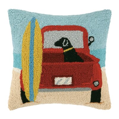 Surf Lab with Truck Hook Wool Throw Pillow