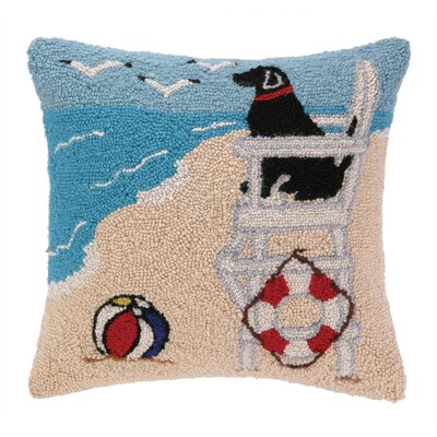 Lifeguard Labrador Hook Wool Throw Pillow