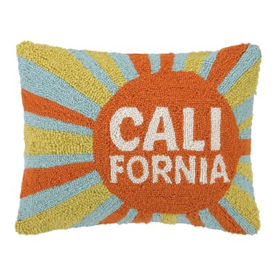 California Sun Hook Wool Throw Pillow