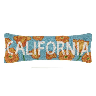 California Poppy Hook Wool Lumbar Pillow