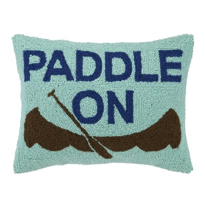Paddle on Canoe Hook Wool Throw Pillow