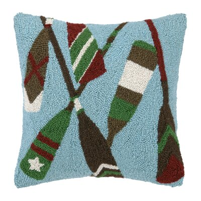 Boat Paddles Hook Wool Throw Pillow