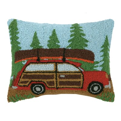 Woody Car Wool Throw Pillow