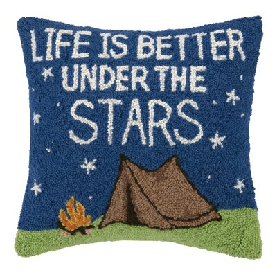 Life Is Better Under The Star Hook Wool Throw Pillow
