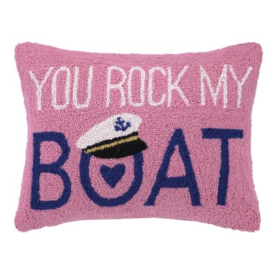 You Rock My Boat Hook Wool Throw Pillow