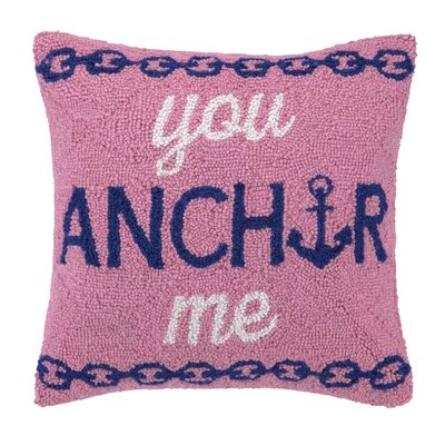 You Anchor Me Hook Wool Throw Pillow