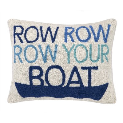 Row Row Row Your Boat Hook Wool Throw Pillow