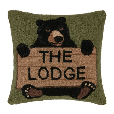 The Lodge Hook Wool Throw Pillow