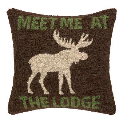 Meet Me at the Lodge Hook Wool Throw Pillow