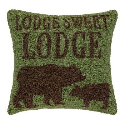 Peking Handicraft Lodge Sweet Lodge Hook Wool Throw Pillow
