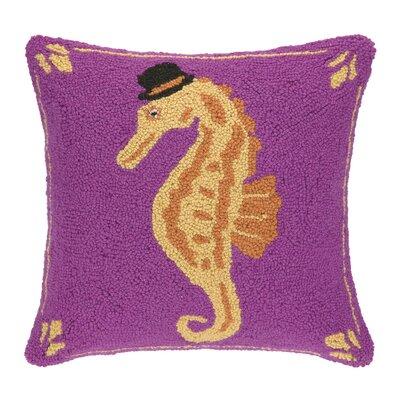Top Hat Seahorse Hook Wool Throw Pillow
