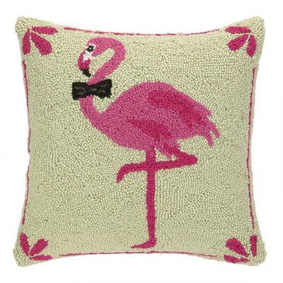 Bowtie Flamingo Hook Wool Throw Pillow