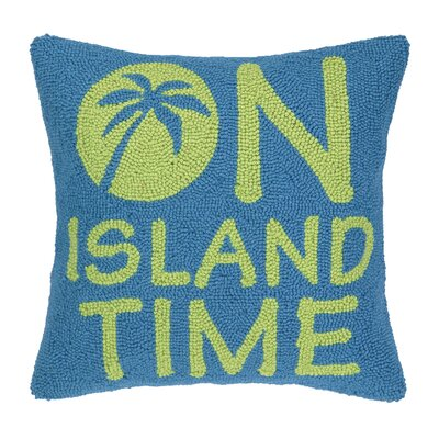 On Island Time Hook Wool Throw Pillow