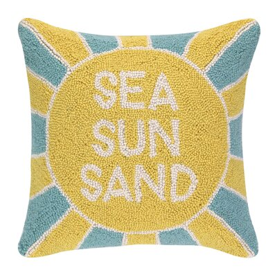 Sea Sun Sand Hook Wool Throw Pillow